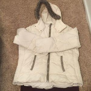 Old Navy Cream Puffer Coat XXL Tall
